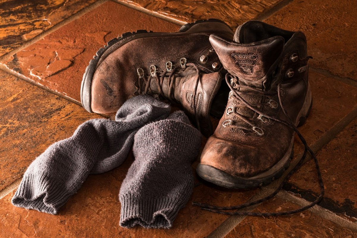 стари работни обувки